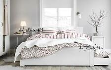IKEA Duvet Quilt Cover set White Red Striped Cotton Parlhyacint Comforter Cover
