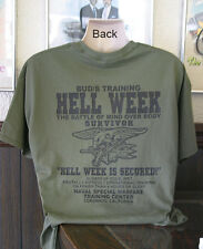 U.S Navy Seals Hell Week T-Shirt DEVGRU Seal Team 6 Six Buds Patriotic Gift New