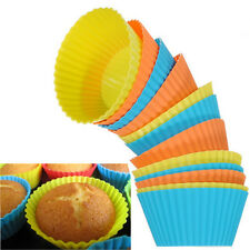 12/24PCS Soft Round Silicone Cake Muffin Chocolate Cupcake Liner Baking Cup Mold