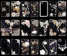 3D Bling Luxury Crystal Diamond Clear Hard Plastic Case Cover For iphone4  5 5C
