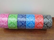 BAZIC Damask Packaging Tape or Paisley Tape 6 ROLLS NEW 32+ Yards Each