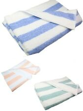 3 COTTON Cabana Stripe Beach Towels 30x70 made in USA 1888 Mills 544 GRAM 4color