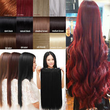100% 38 Colors Shade Lady 3/4 Full Head Clip In Hair Extensions Curly Wavy Cheap