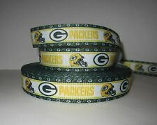 "GROSGRAIN GREEN BAY PACKERS 7/8"" INCH RIBBON **YOUR CHOICE OF 1, 3 OR 5 YARDS**"