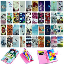 NEW Vintage Stand Flip Wallet Leather Hybrid Case Cover For Samsung Galaxy mini