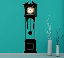 Large Grandfather Clock Silhouette Wall Stickers Clock Background 50cm x 180cm