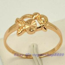 Size 7,7.5,8,9 RING,REAL EXQUISITE FISH 18K ROSE GOLD GP GIFT SOLID FILL GEP