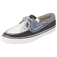 LADIES SPERRY FADED DENIM & WHITE BOAT SHOES - BAHAMA NAVY/WHITE SURF