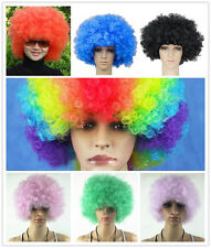 Women Mens Afro Curly Clown Party Cosplay Funny 70s Disco Wig Wigs in 7 Colors