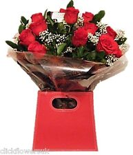 Fresh Flowers Delivered UK Luxury Red Real Rose Selection Bouquet