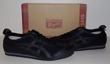 New ASICS Onitsuka Tiger Mexico 66 Men's Black Suede/Leather Sneakers Shoes NIB