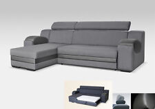 UNIVERSAL CORNER SOFA BED - MADRIT GREY - FABRIC & FAUX LEATHER 260CM