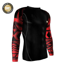RASH GUARD FOR MMA, FITNESS, COMPRESSION SHIRT SLEEVED, BRAZILIAN JIU JITSU