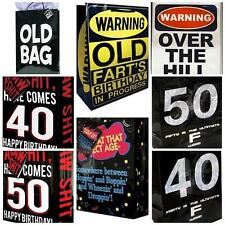 Over the Hill Funny Adult Birthday Gag Gift Bags Getting Older Bags Age 40 50 +