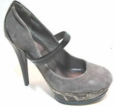 Jessica Simpson 'Cheetah' Cloud Grey Platform Pumps Size 10M