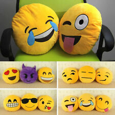 Newest Smiley Emoticon Yellow Round Cushion Pillow Stuffed Plush Toy Dolls