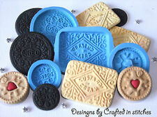 Biscuit Cookie mold Oreo jammy dodger custard cream silicone mold mould