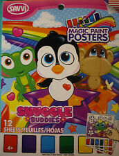 NEW SNUGGLE BUDDIES MAGIC PAINT POSTERS Panda Owl Octopus Monkey Penguin  SAVVI