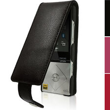 Leather Skin Flip Case Cover for Sony Walkman NWZ-A15 A17 Screen Prot Carabiner