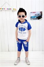 Toddler Baby Kids Clothes Girls Boys Clothing Child Outfits Sets Suits Blue 2pcs