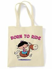 BORN TO RIDE SHOULDER  SHOPPING BAG - Horse Riding Jumping Equestrian Pony