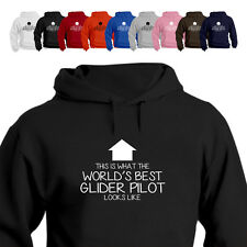 WORLD'S BEST Glider Pilot Gift Hoodie Arrow
