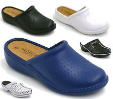 LADIES SLIP ON WEDGE HOSPITAL RUBBER ORTHOPAEDIC NURSING CLOGS MULES SHOES SIZE