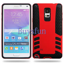 Anti-slip Rocket Rugged Rubber + Hard Cover Case For Samsung Galaxy Note 4