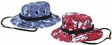Blue or Red Digital Camouflage Boonie Hat - Rothco Digi Camo Bucket Hats