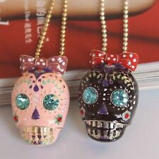 NEW Betsey Johnson Fashion Necklace skull Necklace Pink, Black