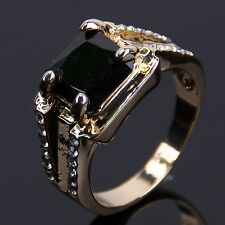 4 Color Fashion Men's Yellow Gold Plated Sapphire Ring Birthday present