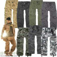 BRANDIT HOSE PURE VINTAGE NEU +4 FARBEN+ S-7XL BW CARGO HOSE ARMY TROUSERS