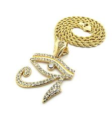 Gold Ancient Egyptian Symbol Eye of Horus Pendant Charm Chain Necklace Jewelry