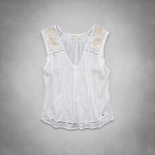 Abercrombie & Fitch Coby Shirt Womens White Sequined Embellished Blouse New NWT