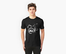 DW DRUM LOGO BAND BLACK T-SHIRT S M L XL 2XL 3XL, WHITE available