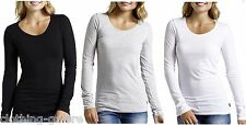 BONDS WOMENS 3 PACK PCS LONG SLEEVE TEE COTTON LADIES TOP BLACK WHITE GREY