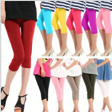 Candy Colors Women Girls Seamless Leggings Yoga Stretch Skinny Cropped Pants
