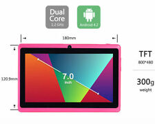 "Blue/Pink 7"" Google Android 4.2 Tablet PC MID for Kids /Children 4GB Dual USA"