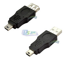 USB 2.0 A Female Male to Mini B 5P Male Plug cable Adapter Converter Connector