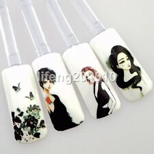 Ink and wash painting water transfer nail art stickers decals decoration tools