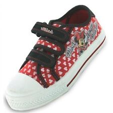 Minnie Mouse Regal Disney Canvas Girls Kids Trainers - Red (6,7,8,9,10,11,12)