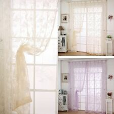 Sheer Window Curtains Door Room Divider Panel Drapes Scarf Valance Assorted S88