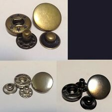 20 Set 17mm Snap Fasteners Popper Press Stud Sewing Leather Button