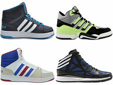 New Mens Adidas Hi Top Running Sport Baseball Trainers  Size UK 6-18