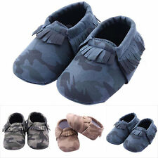 Infant Girls Boys Baby Soft Shoes Toddler Tassel Soft Slip On Shoes 0-12M