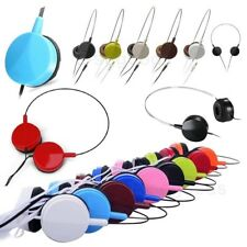 For iPod iPhone MP3 MP4 PC Headphone 3.5mm Tablet Adjustable On-Ear Earphone