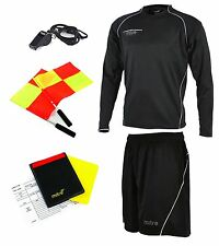 Mitre Soccer Diffract Complete Referee Kit (Jersey Short Whistle Wallet & Flags)