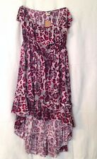 NEW WOMEN'S SUNDRESS BY JON & ANNA RED AND GRAY 100%POLYESTER JERSEY KNIT