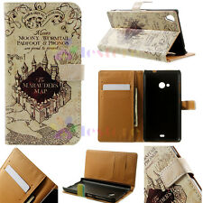 Marauders Map Luxury Flip Wallet Card Leather Case Cover For LG Sony Samsung XH