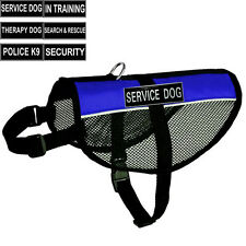 Service Dog Harness Reflective Cool Mesh Vest FREE label patches IN TRAINING